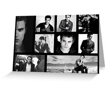 Paul Wesley in Black and White Greeting Card