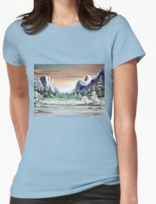 Yosemite Valley  Womens Fitted T-Shirt