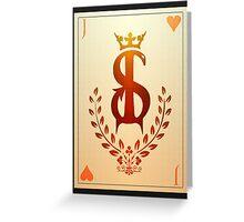 Judas of Hearts Greeting Card