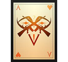 Ace of Hearts Photographic Print