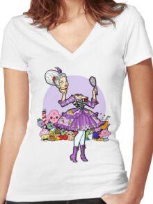 Kawaii Marie Antoinette Women's Fitted V-Neck T-Shirt