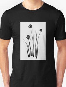 Kathie McCurdy Zen Black & White Flowers Unisex T-Shirt