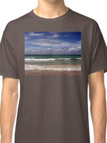 Water, Waves, Sand (O0715wws) Classic T-Shirt