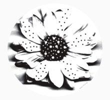 Kathie McCurdy Black & White Polka Dot Daisy by Kathie McCurdy