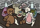 Teddy Bear And Bunny - Lab Experiments by Brett Gilbert