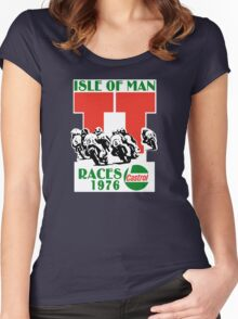 Isle Of Man TT Races 1976 Women's Fitted Scoop T-Shirt