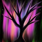 magic rainbow tree in forest by tia knight by Tia Knight