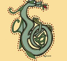 Celtic Oscar letter B (New Manuscript version) by Donna Huntriss