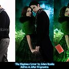The Magician's Lover before and after progression by Adara Rosalie