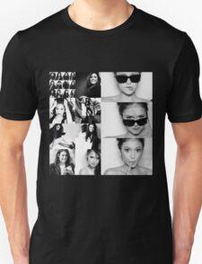 Nina Dobrev in Black and White T-Shirt