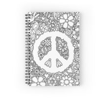 Peace, Love, and Coloring Spiral Notebook