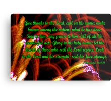 fireworks w/1 chro 16:8-11 Metal Print