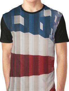 American Flag Legos Graphic T-Shirt