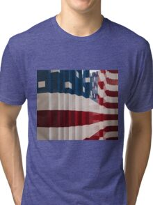 American Flag Legos Tri-blend T-Shirt