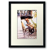 Takhli children... Framed Print