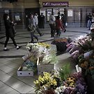 Flinders St Station Flowers by Andrew  Makowiecki