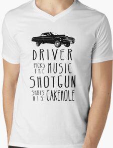Driver picks the Music, Shotgun shuts his Cakehole Mens V-Neck T-Shirt