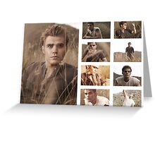Paul Wesley grass photoshoot Greeting Card