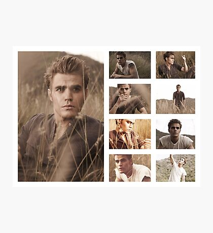 Paul Wesley grass photoshoot Photographic Print