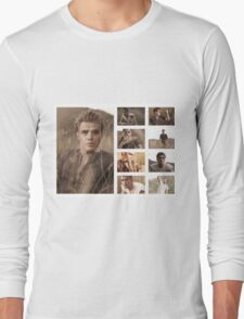 Paul Wesley grass photoshoot Long Sleeve T-Shirt