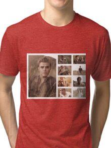 Paul Wesley grass photoshoot Tri-blend T-Shirt