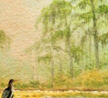Misty Sunrise Wakulla River Florida Sticker