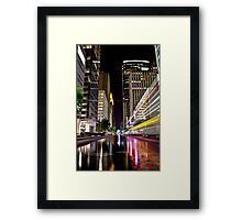 Main St. Reflections Framed Print
