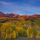 Kebler Pass Fall Sunset by Ryan Wright