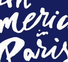 American In Paris Main Logo Sticker