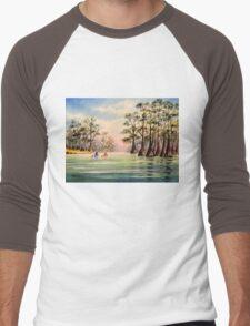 Canoeing The Suwannee  Men's Baseball ¾ T-Shirt