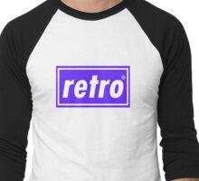 Retro - Blue Men's Baseball ¾ T-Shirt