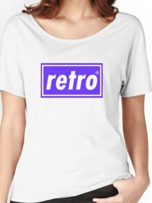 Retro - Blue Women's Relaxed Fit T-Shirt