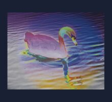 Swan mirror in pastels One Piece - Long Sleeve