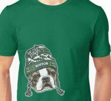 Boston Terrier Green Beanie Unisex T-Shirt