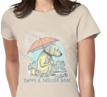 Adopt a Shelter Dog Umbrella Womens Fitted T-Shirt