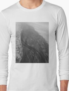 Egypt From Above - The Nile In Black and White Long Sleeve T-Shirt