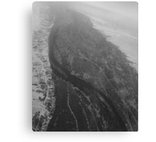 Egypt From Above - The Nile In Black and White Canvas Print