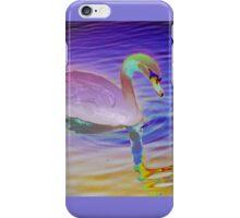 Swan mirror in pastels iPhone Case/Skin