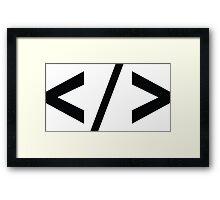 Web code Framed Print