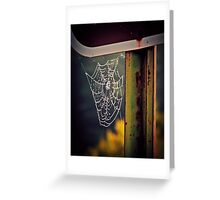 Web, Dew, and Rust Greeting Card
