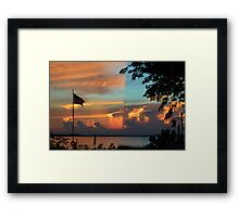 Fitting Sunset Framed Print