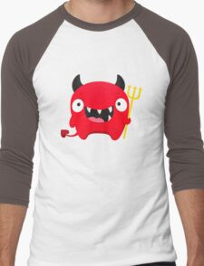 Happy Demon Men's Baseball ¾ T-Shirt