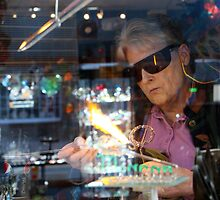 Glassblower, Lake Placid New York by Debbie Pinard