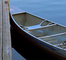 Canoe at Sundown - Lake Placid New York by Debbie Pinard