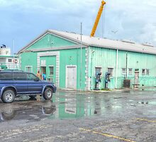Police Station at Potter's Cay in Nassau, The Bahamas by Jeremy Lavender Photography