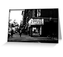 Drugs & Cosmetics. Greeting Card
