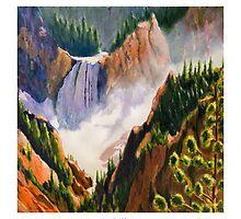 Lower Falls - Yellowstone Wyoming by circleMstudios
