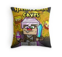 Super Spellbound Caves - Enchanting Poster Throw Pillow