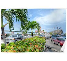 Paradise Island Bridge over Potter's Cay in Nassau, The Bahamas Poster
