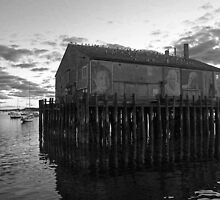 """""""They Also Faced the Sea"""" , Fisherman's Wharf, Provincetown by Debbie Pinard"""